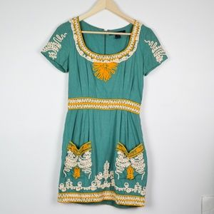 French Connection Teal Casual Sundress